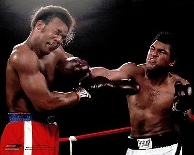 Awesome Muhammed Ali George Foreman 8 X 10 Color Photo Great Punch
