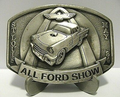 FORD Thunderbird Classic Car 1984 Show St Louis Club Belt Buckle Limited Ed Auto