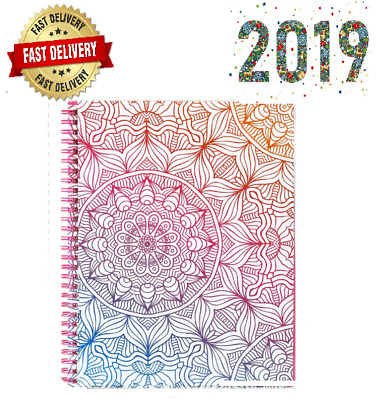 2019 Women Daily Planner Personal Schedule Bullet Journal Flexible Cover