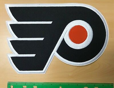 Philadelphia Flyers Jersey  Crest Vintage Large NHL Embroidered