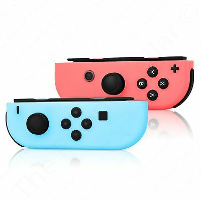 Nintendo - Nintendo Switch (L/R) Joy-Con Wireless Controllers Neon Red/Neon Blue