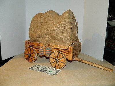 Wooden Hand Made Breyer horse Covered Wagon