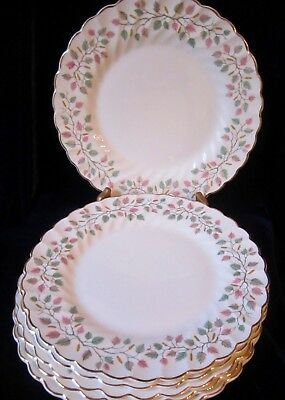Myott Staffordshire Olde Chelsea Fascination Luncheon Plates -Set of 6 - England