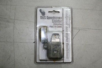 The Sportsman CAMO Lighter Refillable BUTANE Windproof Water Resistant NEW <a21>
