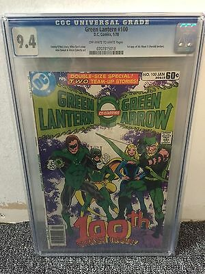 Green Lantern #100 Cgc 9.4 Off-White Pages Bronze Age  1978  Dc Comics