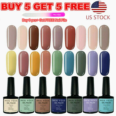 126 Color UV Gel Nail Polish Set Base&Top Coat Soak Off Glitter BUY 5 GET 5 FREE