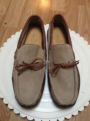 f0d6487cf410d Tommy Bahama Boat Deck Loafers Men's Leather Suede Casual Shoes Size 9.5