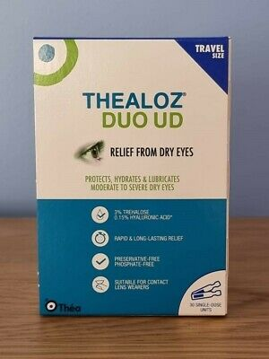 Thea Thealoz Duo UD Dry Eye Unidose 0.4ml 30 vials pack For ALL dry eyes 4weeks