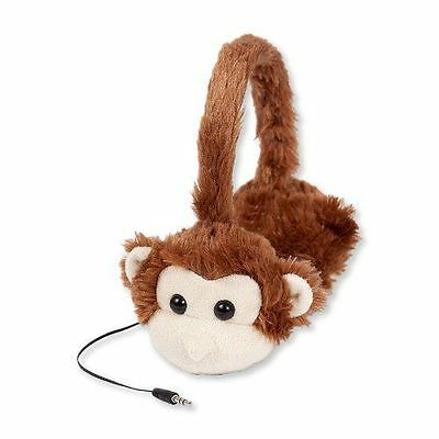 ReTrak Animalz Retractable Volume-Limiting Childrens Headphones Monkey FREE SHIP