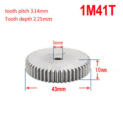 1 Mod 41T Spur Gear Steel Motor Pinion Gear Thickness 10mm Outer Dia 43mm x 1Pcs