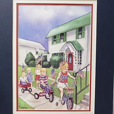 """Limited Edition Art Print """"Parade Down Grand"""" Signed by MetzWood 81/400 -11 X 14"""
