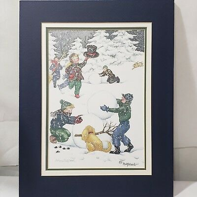 """MetzWood Art Print """"Making Friends"""" Limited Edition 34 / 950 Signed Matted 11x14"""