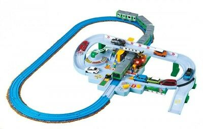 Takara Tomy Pla-rail Let's play with Tomica! Railroad Crossing Set Fast Shipping