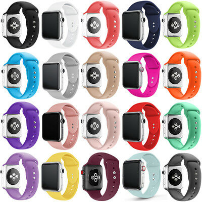 Silicone Replacement Sport Wrist Band Strap For Apple Watch Series 1/3/2/4 38/44