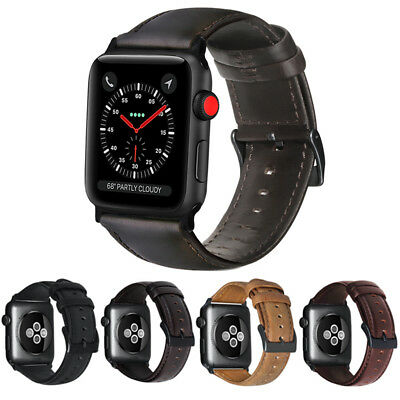 Genuine Leather Band Replacement Strap for Apple Watch 4 iWatch 38/42/40/44MM