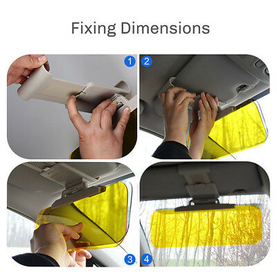 Car Anti-Glare Dazzle Goggle Mirror Day/Night Driving Sun Visors Extension CA