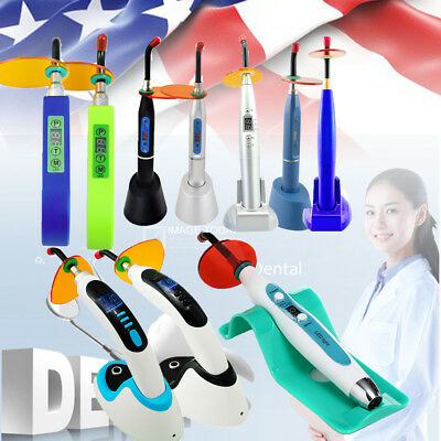 Dental Oral 5W/10W Wireless Cordless LED Curing Light Lamp 1500/1800/2000mw USA