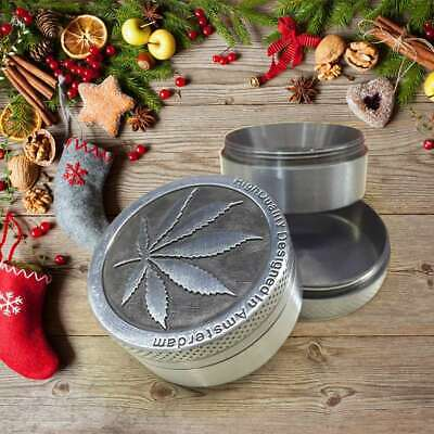 4-Layers Herb Grinder Spice Tobacco/Weed Smoke Metal Crusher Leaf Design Tool AU