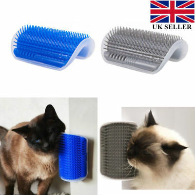 Pet Cat Wall Corner Massage Brush Comb Toy Dog Self Groomer Health Cleaner Tool