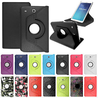"""Leather Flip Stand Cover Case For Samsung Galaxy Tab E 9.6"""" Inch SM-T560 SM-T561"""