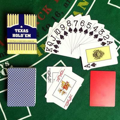 55 Cards PLASTIC Playing Cards Full Poker Pub Game Deck Waterproof HIGH QUALITY