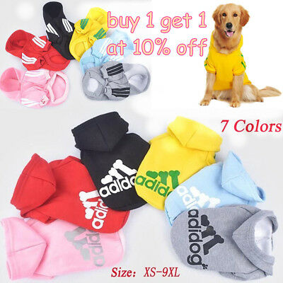 Pet Dog Autumn Winter Clothing Coat Jacket Puppy Cat Sporting Hooded Sweater Hat
