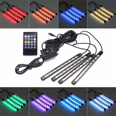 998F Lights Wireless Remote Control Sound Active LED Strip Interior Wireless