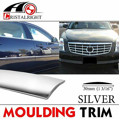 16ft Silver Car Auto Molding Trim For Body Side Strip Decoration Exterior 30mm