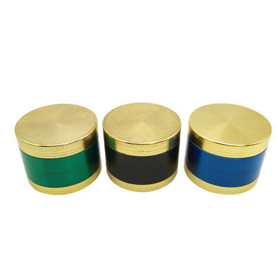 4 Layers Gold Lid Top Fashion Metal Grinder Zinc Alloy Herbal Tobacco