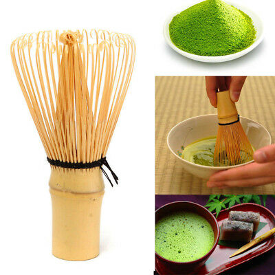 Ceremony Bamboo Chasen Powder Whisk Green Tea Preparing Matcha Brush Useful Set