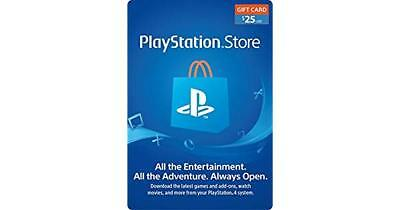 Playstation Network $25 USD 25 Dollar PSN US Store Card - Digital Code PS4 PS3
