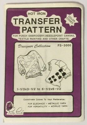 Pretty Punch FS-3000 Hot Iron Transfer Pattern Punch Embroidery Sweaters