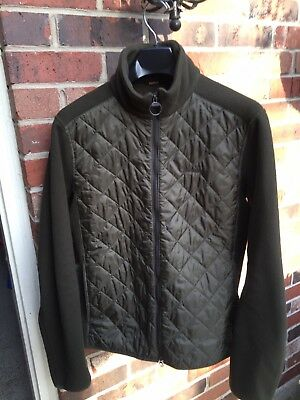 Men's Barbour Trefoil Fleece Coat Jacket size M medium 40 Polarquilt