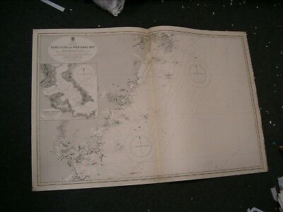Vintage Admiralty Chart 1754 CHINA - EAST COAST 1913 edition