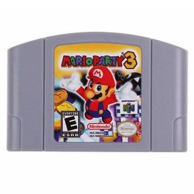 Hot Sale Mario Party 3 Video Game Cartridge Console US Version For Nintendo 64