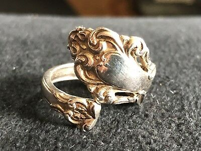 Vintage Grand Renaissance Sterling Silver Spoon Ring Reed & Barton Signed 6 1/2
