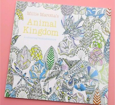 24 pages Animal Kingdom Coloring Book Children Adult Stress Kill Paints 1 PCS