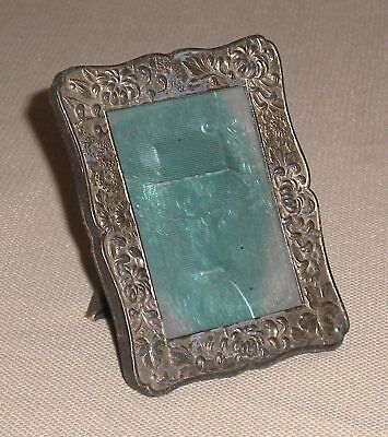 Antique Victorian Ornate Metal Picture FRAME Floral Theme 709g