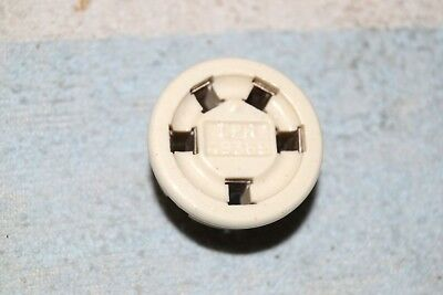 AMPHENOL   CERAMIC 5-pin PRE-OCTAL SOCKET SILVER PLATED HAM RADIO