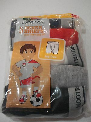 Fruit of the Loom Toddler Boys 5 Pack Boxer Briefs Size 2T-3T NEW Solid