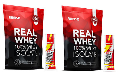 2 CONFEZIONI PROTEINE ISOLATE SIERO DEL LATTE 100% REAL WHEY ISOLATE 1000gr.