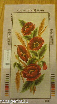 Collection D'Art Tapestry CANVAS ~ RED POPPIES & WHEAT
