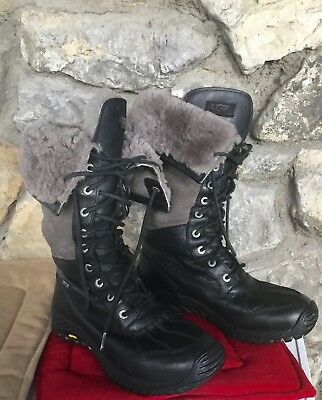 1cb44717168 UGG ADIRONDACK TALL Snow Winter Boots Size 10 Womens Waterproof Black  Grey.Warm!