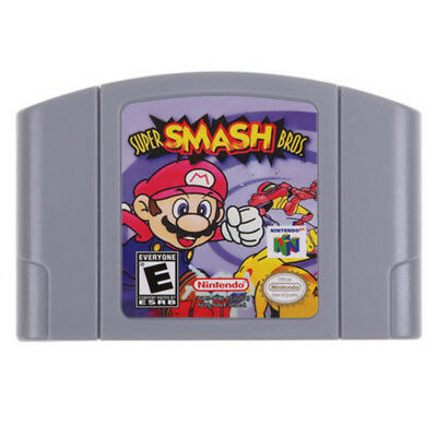Hot Sale Super Smash Bros Video Game Cartridge Console US Version For Nintendo64
