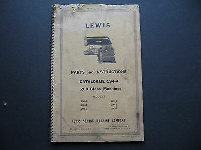 Lewis 200 Class Parts & Instructions Manual