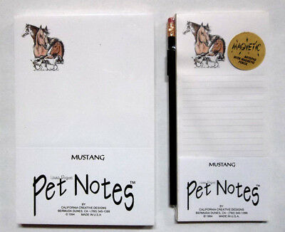 Mustang Horse Notepads ~ Magnetic Pad Set