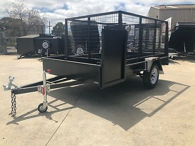 8x5 LAWN MOWER TRAILER | 3FT CAGE | CHECKERPLATE FLOOR | MOWER BOX | AUSSIE MADE