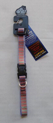 "Lupine 1/2"" Adjustable Dog Collar "" Cotton Candy "" (10 - 16"") ~ NEW"
