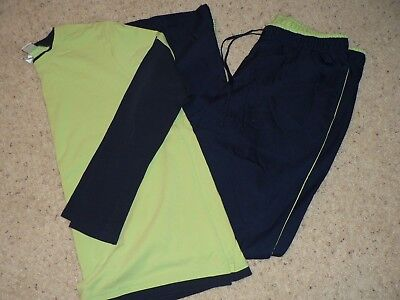 DUO MATERNITY Athletic Workout Wear LARGE TALL Pants Long-Sleeve XL Shirt NAVY