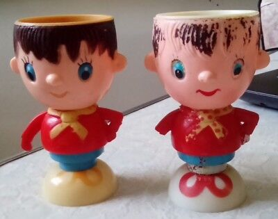 2x VINTAGE NODDY EGG CUPS - Collectable, Kitchen, Hong Kong